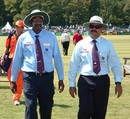Shahul Hameed with fellow Umpire Steve Bucknor