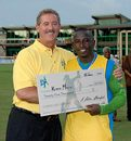 Kenroy Martin collects his $25,000 Man-of-the-Match award, St Vincent v United States Virgin Islands, Stanford 20/20, Antigua, July 18, 2006