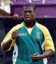 Thandi Tshabalala prepares to bowl, Sinhalese Sports Club, Colombo, July 25, 2006