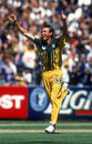 Anthony Stuart celebrates his hat-trick, Australia v Pakistan, Carton and United Series, Melbourne, January 16, 1997