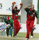 Piet Rinke barks out an appeal, Zimbabwe v Bangladesh, 2nd ODI, Harare, July 30, 2006