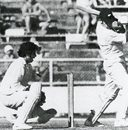 Brian Hastings is bowled to end the Test record 10th-wicket stand of 151, New Zealand v Pakistan,  Auckland, February 17, 1973