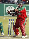 Greg Strydom gets ready punish the spinners, Zimbabwe v Bangladesh, 4th ODI, Harare, August 4, 2006