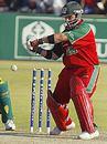 Greg Strydom gets ready punish the spinners, Zimbabwe v Bangladesh, 4th ODI, Harare, August 4, 2006