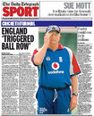 <I>The Daily Telegraph</I> reports on Duncan Fletcher's meeting, England v Pakistan, 4th Test, The Oval, August 22, 2006