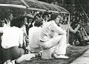 Ray East - and bucket - in the dug-out at Stamford Bridge, Essex v West Indies, Chelsea, August 24, 1980
