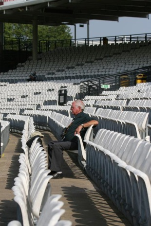 A lone spectator enjoys the last vestiges of summer at Lord's, Cross Arrows v The President of Cross Arrows' XI, Lord's, September 11, 2006