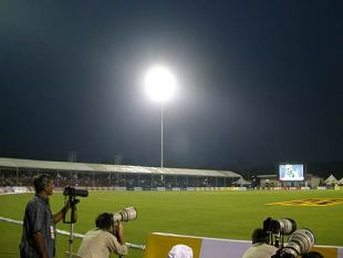 The night sky at the Kinrara Academy Oval, Australia v West Indies, 1st match, DLF Cup, Kuala Lumpur, September 12, 2006