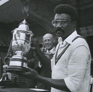 He may have dropped a catch, but Lloyd's grip on the trophy was firm