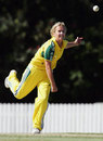 Julie Hayes, the hero of the bowl-off, Australia v New Zealand, Twenty20, Allan Border Field, Brsibane, October 18, 2006