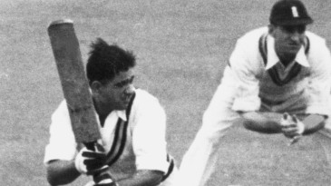 Vinoo Mankad batting against England