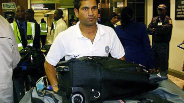 Sachin Tendulkar arrives at the OR Tambo Airport in Johannesburg