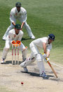Alastair Cook nudges one to leg