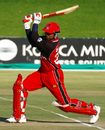 Sunil Dhaniram drives during his match-winning 63 off 42 balls against Netherlands, Canada v Netherlands, Tri-series, Potchefstroom, November 28, 2006