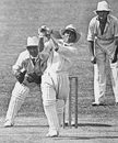 Eddie Paynter hits out during his heroic 83 at Brisbane, Australia v England, 4th Test, Brisbane, February 13, 1933