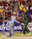 AB de Villiers appeals for a stumping against Dinesh Mongia, South Africa v India, Pro20, Johannesburg, December 1, 2006