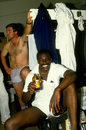 Gladstone Small and Mike Gatting celebrate England's win, Australia v England, 4th Test, Melbourne, December 28, 1986