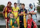 Fun and games: Nick Kruger, Peter Worthington, Aiden Blizzard, Ed Cowan, Travis Birt and Mark Cleary launch the Australian domestic Twenty20 competition, Melbourne, December 28, 2006