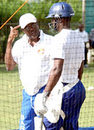 One of Barbados' and the West Indies' all-time batting greats was in the nets at Yorkshire Sports Club, Friendship, St Michael, yesterday, giving tips on the art of batting to current national cricketers. Cricket legend Seymour Nurse, dressed in blue Barbados track pants and white tee-shirt and still looking fairly fit for someone 73 years old, positioned himself behind the stumps so that he could detect any flaws in the batsmen's technique, Barbados, December 30, 2006