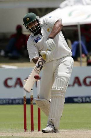 Inzamam-ul-Haq opens up over midwicket, South Africa v Pakistan, 2nd Test, Port Elizabeth, January 20, 2007