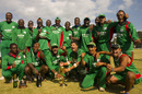 Kenya celebrate winning the World Cricket League, Kenya v Scotland, World Cricket League final, Nairobi, February 7, 2007