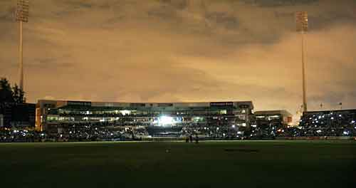 Kingsmead Is Thrown Into Darkness After The Floodlights Fail