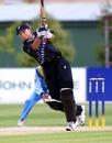 Rebecca Rolls plays an aggressive shot against India