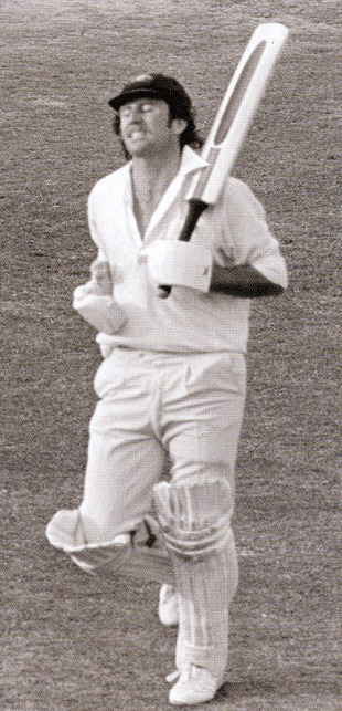 Ian Chappell grimaces after being run out by Viv Richards