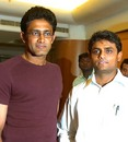Sujith Somasunder announces his retirement with his former colleague Anil Kumble, Bangalore, February 21, 2007