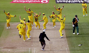 The mother of all mix-ups: Allan Donald is run out and the game is tied, Australia v South Africa, 2nd semi-final, World Cup, Birmingham, June 17, 1999