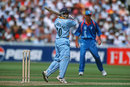 Sachin Tendulkar cuts square during his innings of 22, 25th match: India v Pakistan, World Cup, Birmingham, May 30, 1999