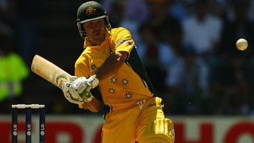Ricky Ponting gets in position to dismiss the ball out of sight during his 140