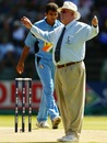Umpire David Shepherd gets a working over thanks to Zaheer Khan's wayward beginning