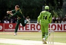 Lance Klusener plucks a return catch from Alpesh Vadher, 20th match: Kenya v South Africa, World Cup, Amstelveen, May 26, 1999