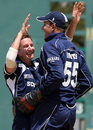 Glenn Rogers celebrates a Sri Lankan wicket, Sri Lanka v Scotland, 3Ws Oval, Barbados, March 5, 2007