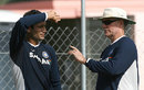 Greg Chappell has a word with Irfan Pathan