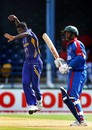 Farvez Maharoof celebrates a strike during his spell of 4 for 23, Bermuda v Sri Lanka, Group B, Port-of-Spain, March 15, 2007