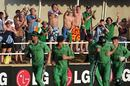 The Ireland players run a lap of honour after their thrilling tie, Ireland v Zimbabwe, World Cup, Group D, Jamaica, March 15, 2007