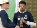 Greg Chappell and Rahul Dravid oversee India's training session on the eve of their opening game at Trinidad