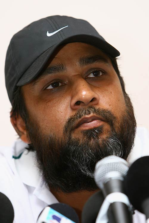 Inzamam-ul-Haq announces his retirement from one-day cricket at a press conference, Kingston, Jamaica, March 18, 2007