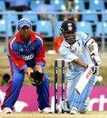 Sachin Tendulkar provided the tail-end fireworks with a 29-ball 57, Bermuda v India, Group B, Trinidad, March 19, 2007