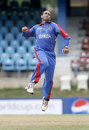 Saleem Mukuddem punctuates the first of his three wickets, Bangladesh v Bermuda, Trinidad, March 25, 2007