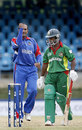 Saleem Mukuddem pumps his fist after nailing Aftab Ahmed leg before, Bangladesh v Bermuda, Trinidad, March 25, 2007