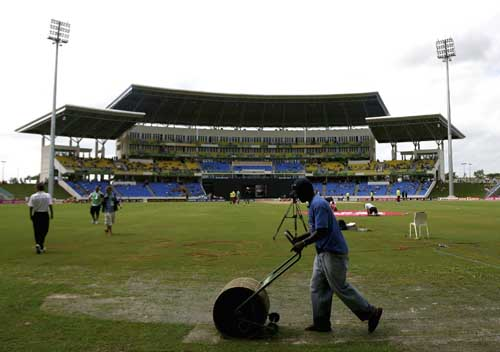 Wet outfield forces curtailed match in Antigua.