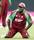 Down and almost out ... Brian Lara feels the strain as his side slips towards defeat, West Indies v Sri Lanka, Super Eights, Guyana, April 1, 2007