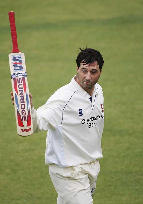 Ronnie Irani departs after his career-best 218