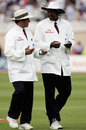 Aleem Dar and Steve Bucknor chew the cud, England v Australia, 4th Test, Nottingham, August 28, 2005