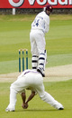 Johan van der Wath is caught at second slip by Ben Hutton, Middlesex v Northamptonshire, County Championship, Division Two, Lord's, April 26, 2007