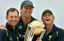 A trio of winners: Ricky Ponting, Glenn McGrath and Adam Gilchrist with the World Cup trophy