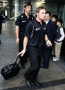 Brendon McCullum and Shane Bond return home from the World Cup